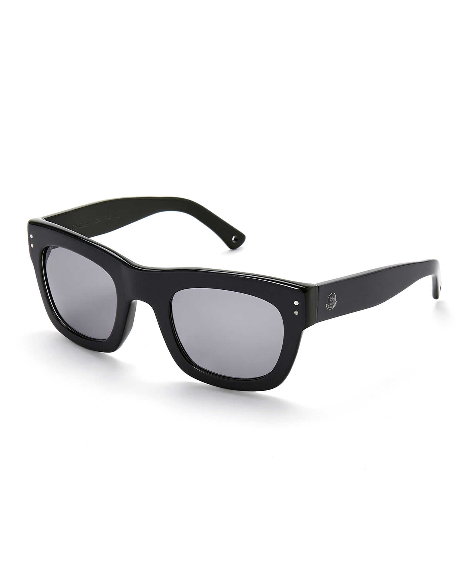 Moncler Black Wayfarer Sunglasses