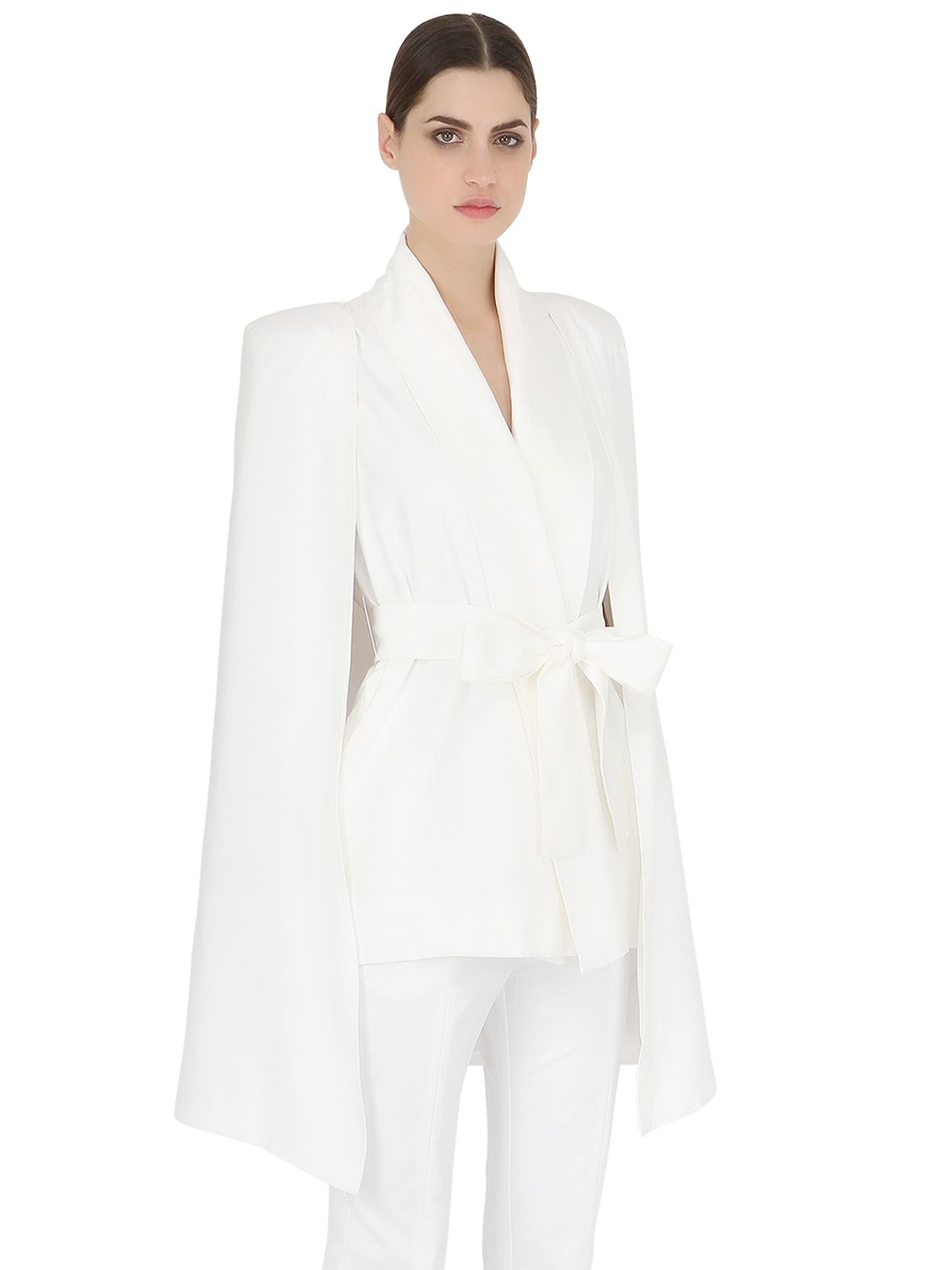 Lyst Cameo Night Rider Viscose Cape Jacket In White