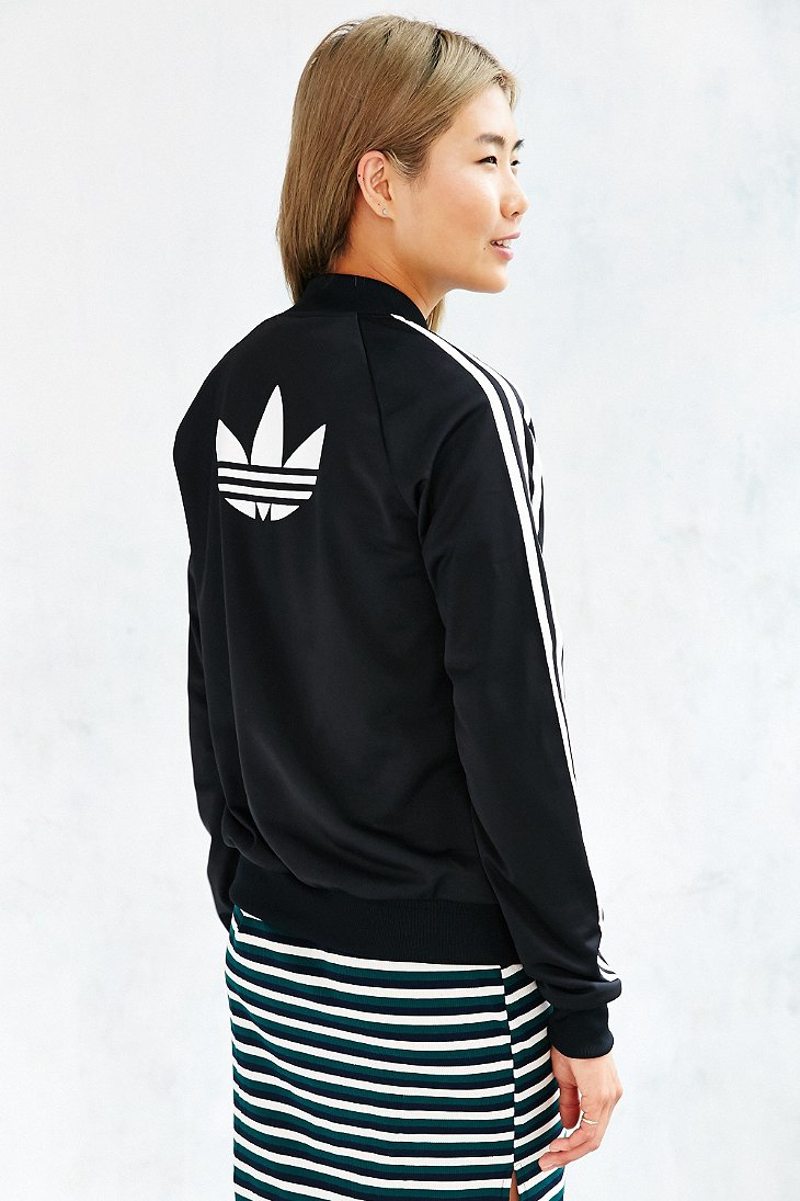 lyst adidas superstar track jacket in black. Black Bedroom Furniture Sets. Home Design Ideas