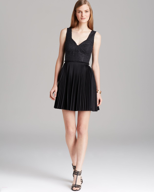 Catherine Malandrino Dress Elli Sleeveless Pleated Fit And