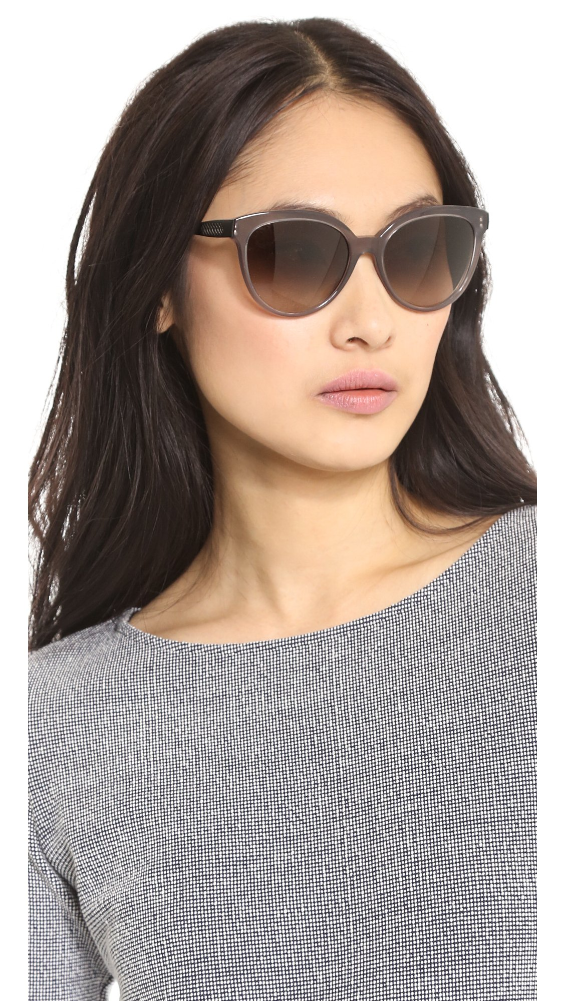 29b06d22c1 Bottega Veneta Cat Eye Sunglasses - Light Brown Brown Gradient in ...