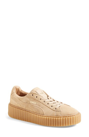 puma creeper suede sneakers in natural lyst. Black Bedroom Furniture Sets. Home Design Ideas