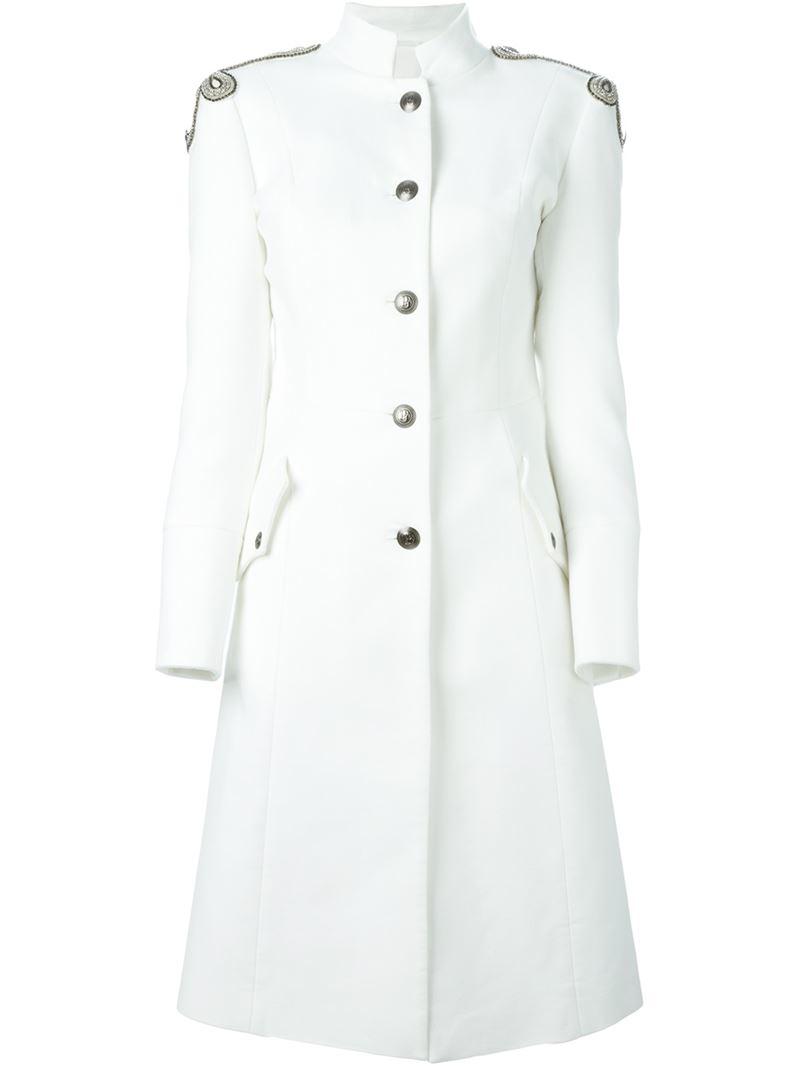White Military Coat - Coat Nj