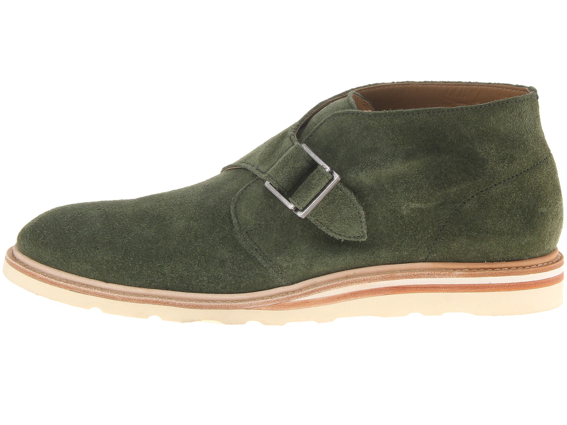 Church S Olive Suede Monk Shoes