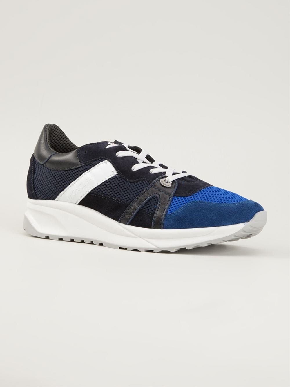 moncler montego sneakers in blue for lyst
