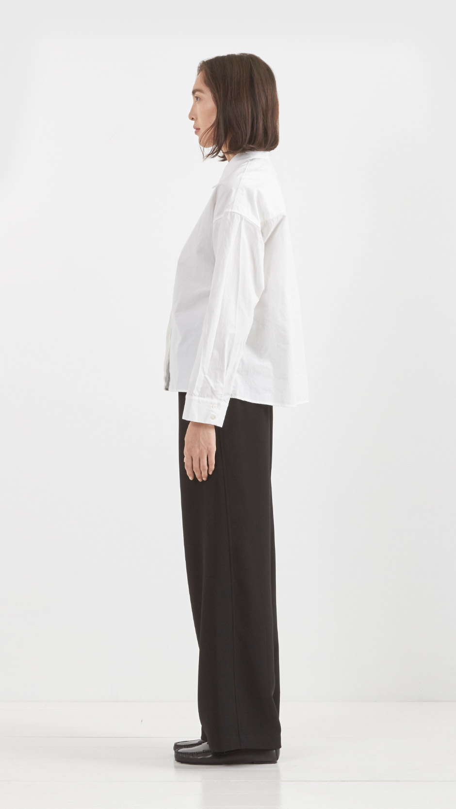 Steven alan drummond shirt in white lyst for Drummond cleaning products