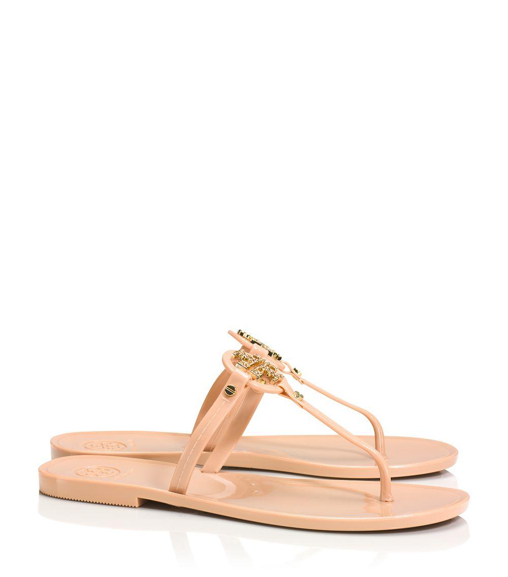 19e17e07b3e4c7 ... denmark tory burch mini miller jelly thong sandal in pink lyst 82f4b  c3ecb