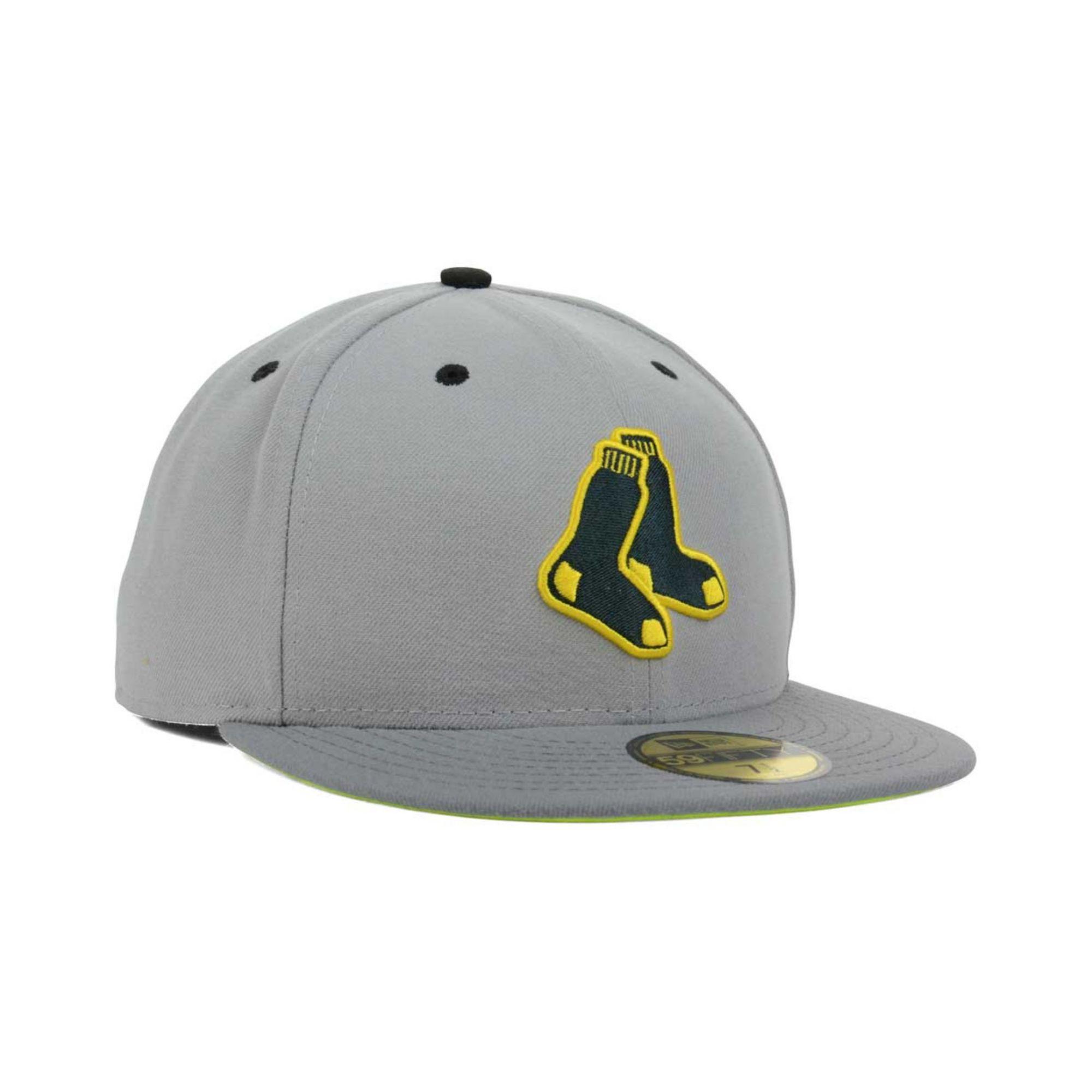 best service 28e92 cca5c KTZ Boston Red Sox Mlb Gvolt 59fifty Cap in Gray for Men - Lyst