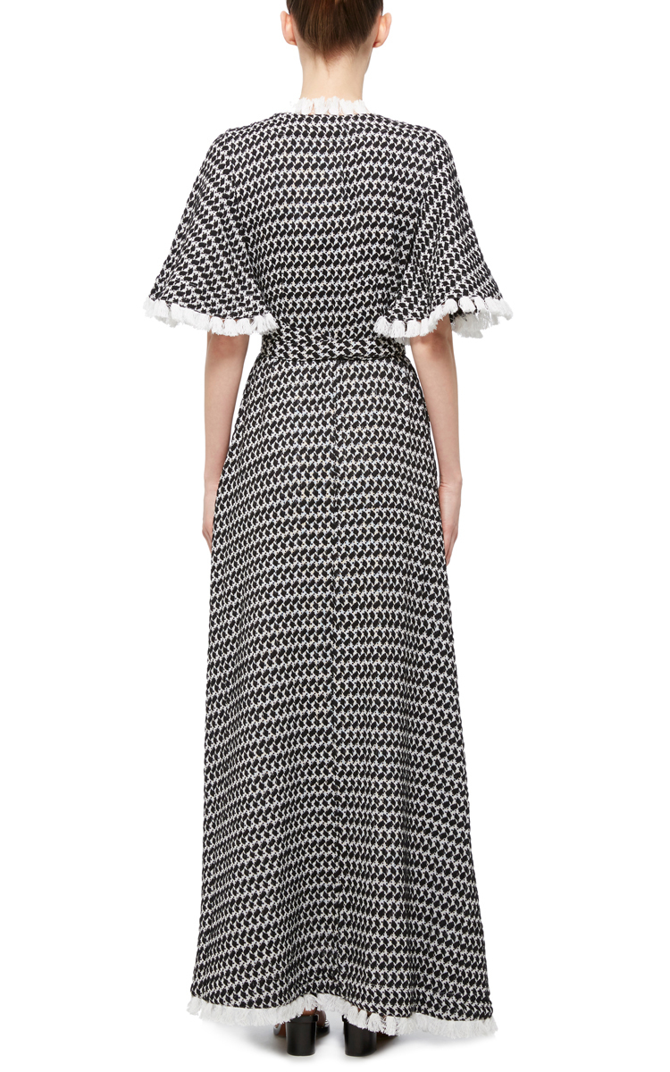 Dodo Bar Or Cotton Cristina Maxi Wrap Dress in Black