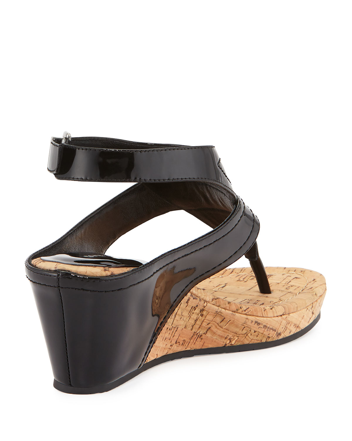 Lyst Donald J Pliner Gilee Patent Leather Wedges In Black
