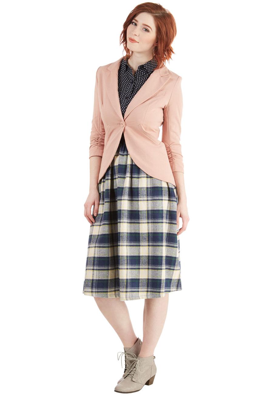 ec2fbb9231d4 Lyst - Esley Fine And Sandy Blazer In Petal in Pink