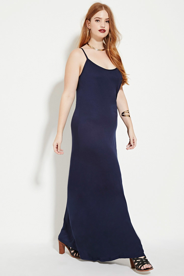 cd26147a53f56 Forever 21 Plus Size Cami Maxi Dress in Blue - Lyst