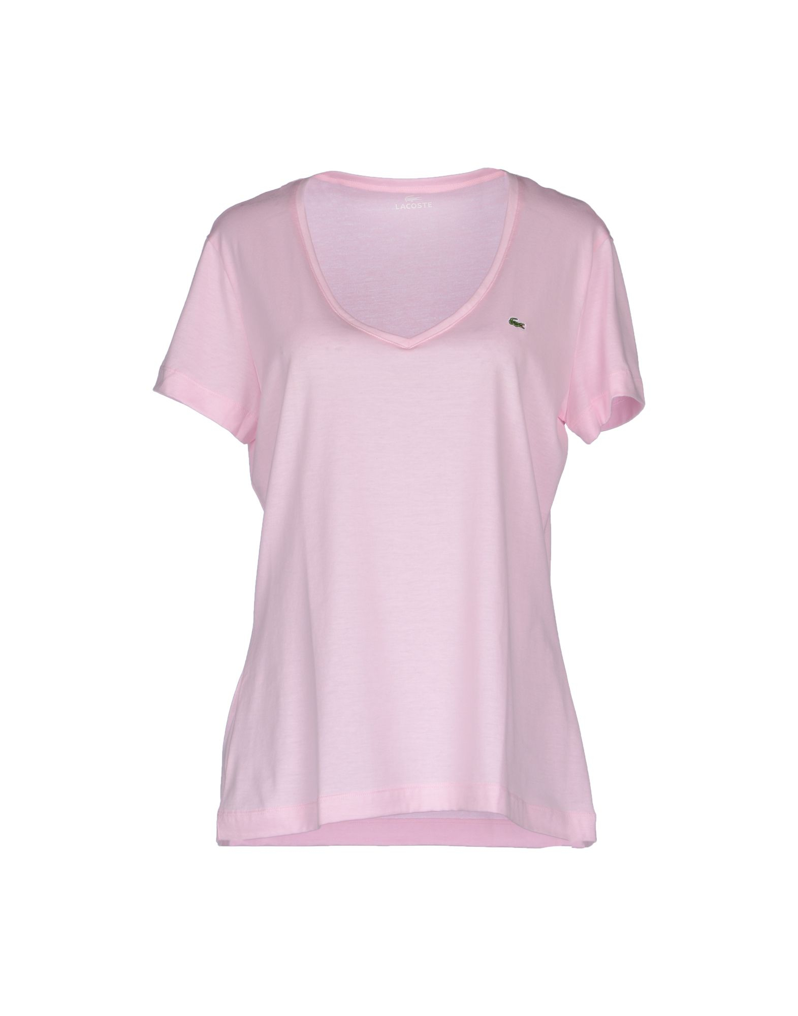 Lacoste Short Sleeve T-shirt in Pink | Lyst