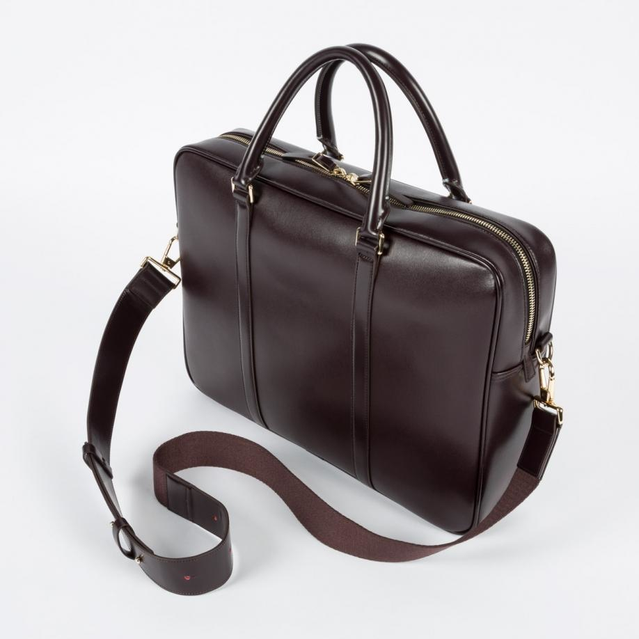 more photos 1b977 dd11c Paul Smith Brown Men's Damson 'city Embossed' Leather Business Folio for men