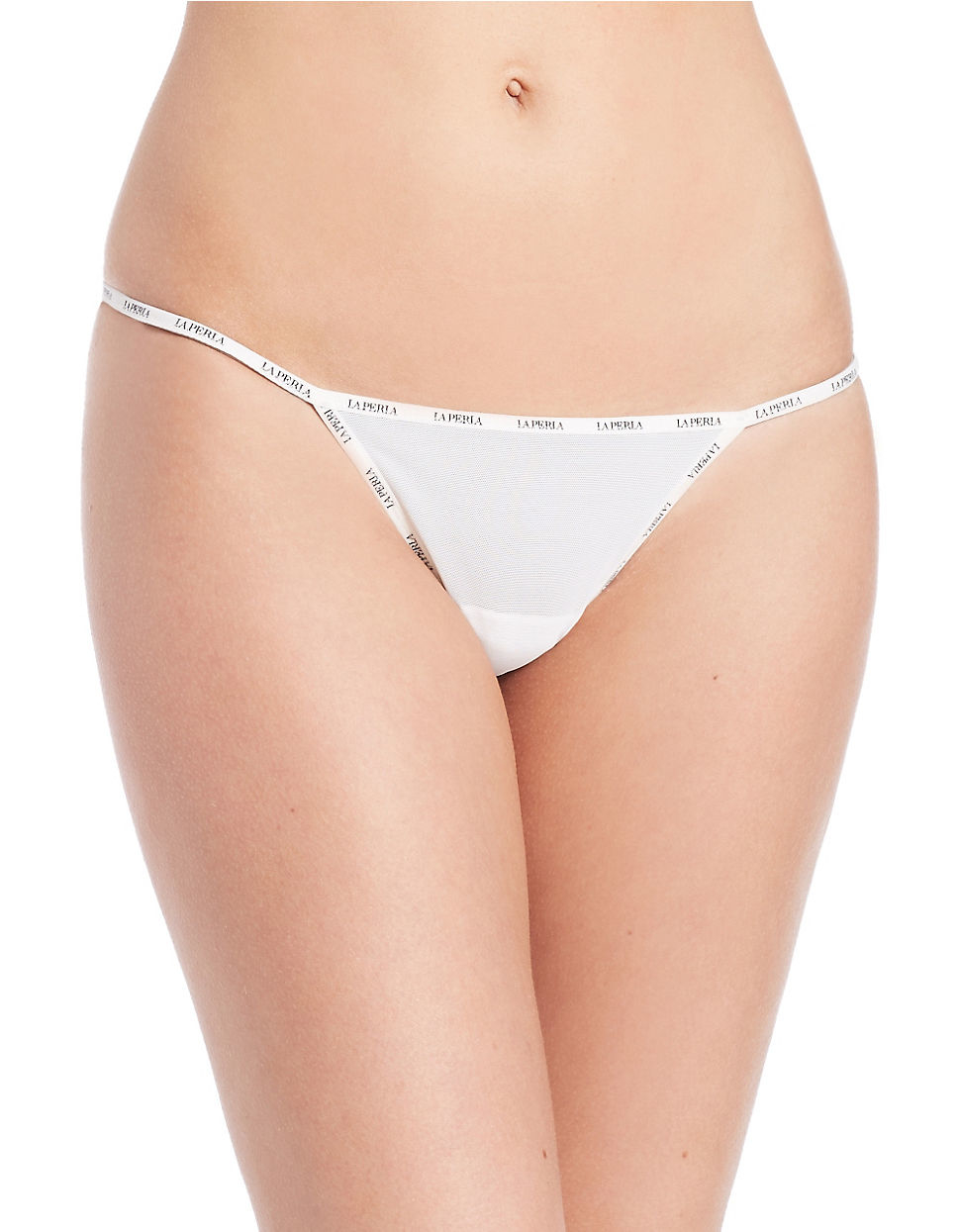 La perla Sexy Town Thong in Natural