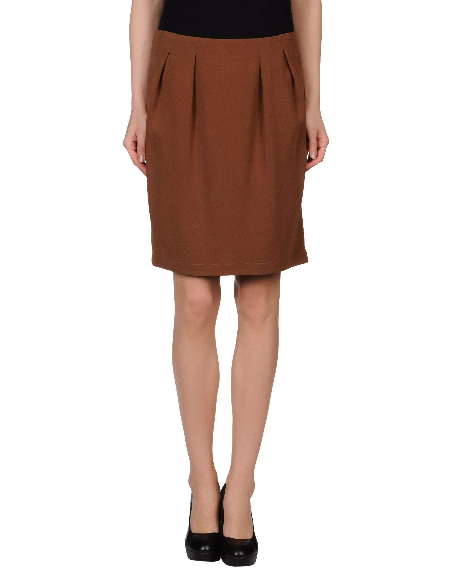 l autre chose knee length skirt in brown lyst