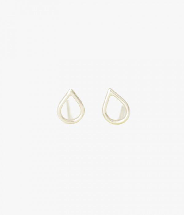 Silhouette Earrings: Ariel Gordon Teardrop Silhouette Earrings In Metallic