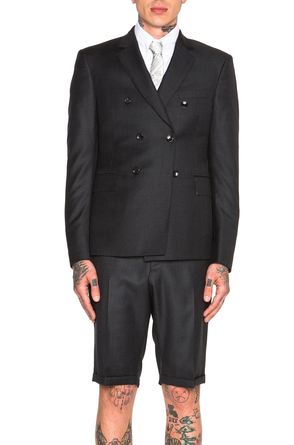 0ec032427a Thom Browne Classic Double Breasted Blazer in Black - Lyst