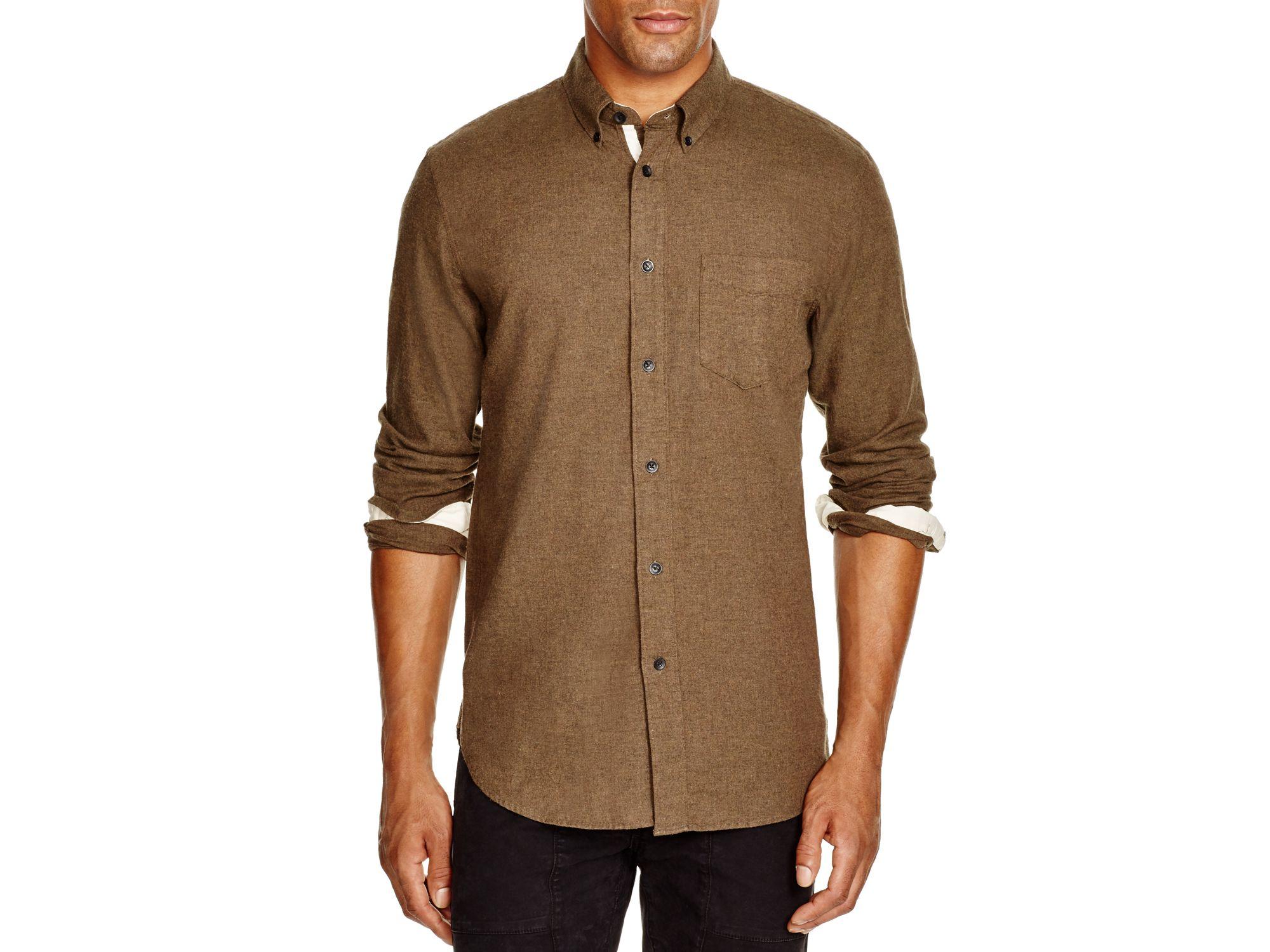 Rag bone lightweight flannel regular fit button down for Men s lightweight flannel shirts