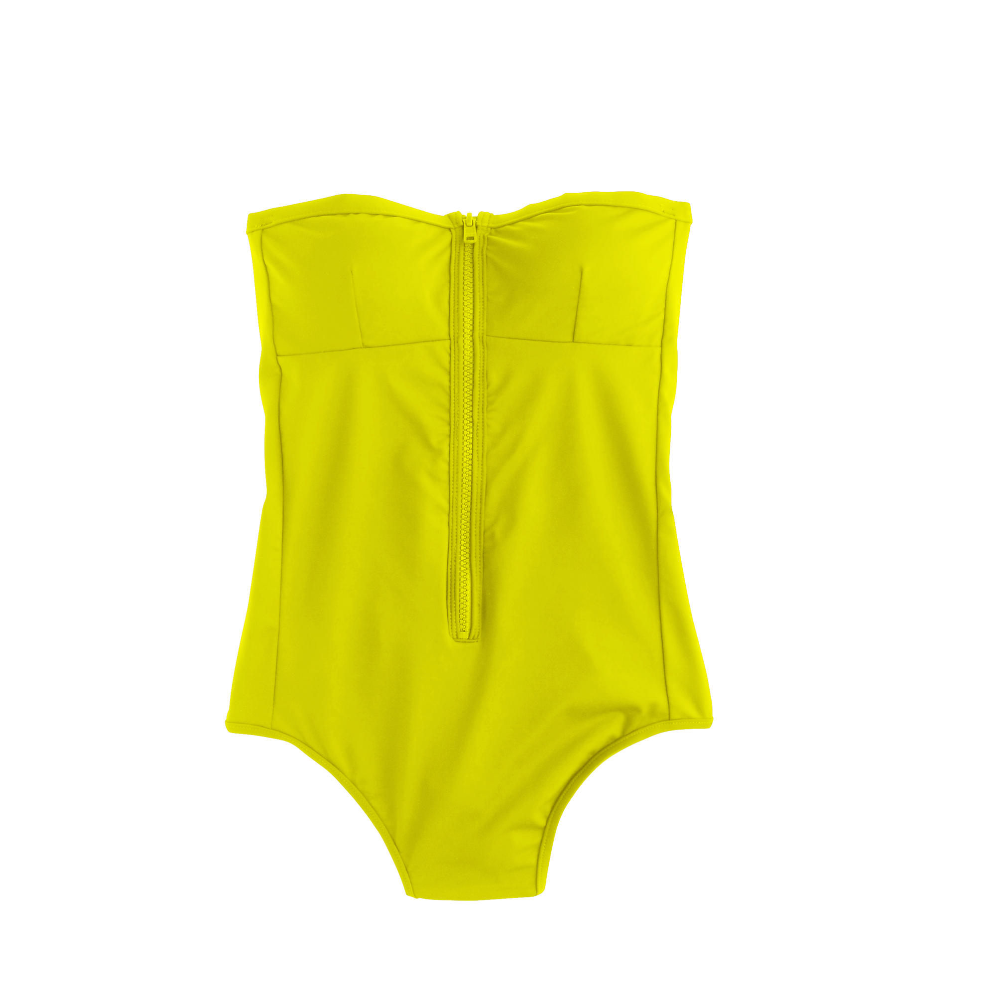 J.crew Italian Matte Bandeau Zip One-piece Swimsuit in ...