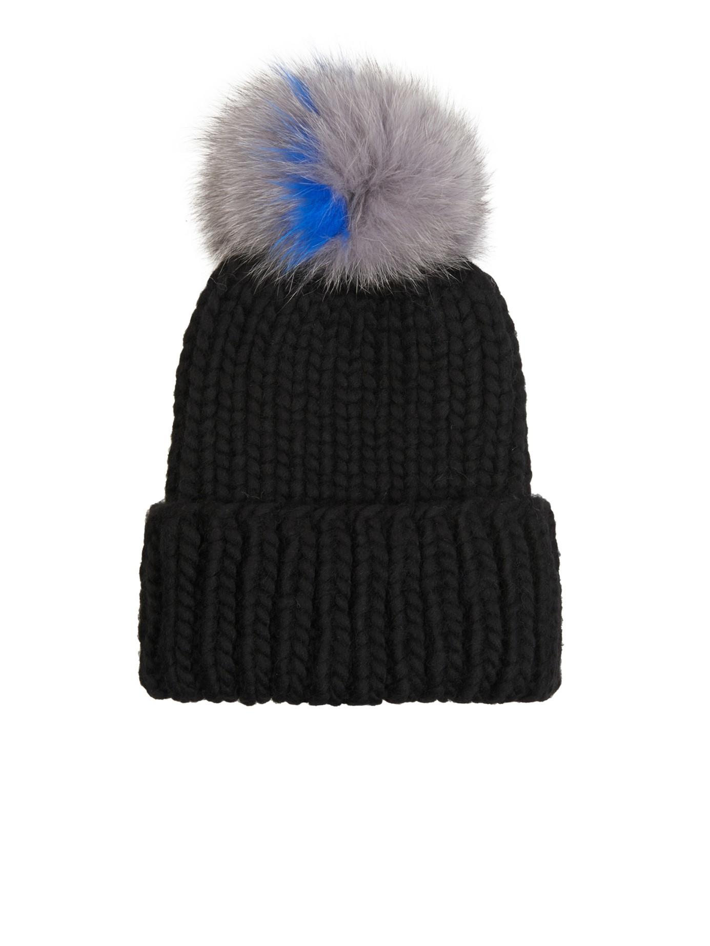 833d64bc6c6 Eugenia Kim Rain Fur Pompom Beanie Hat in Black - Lyst
