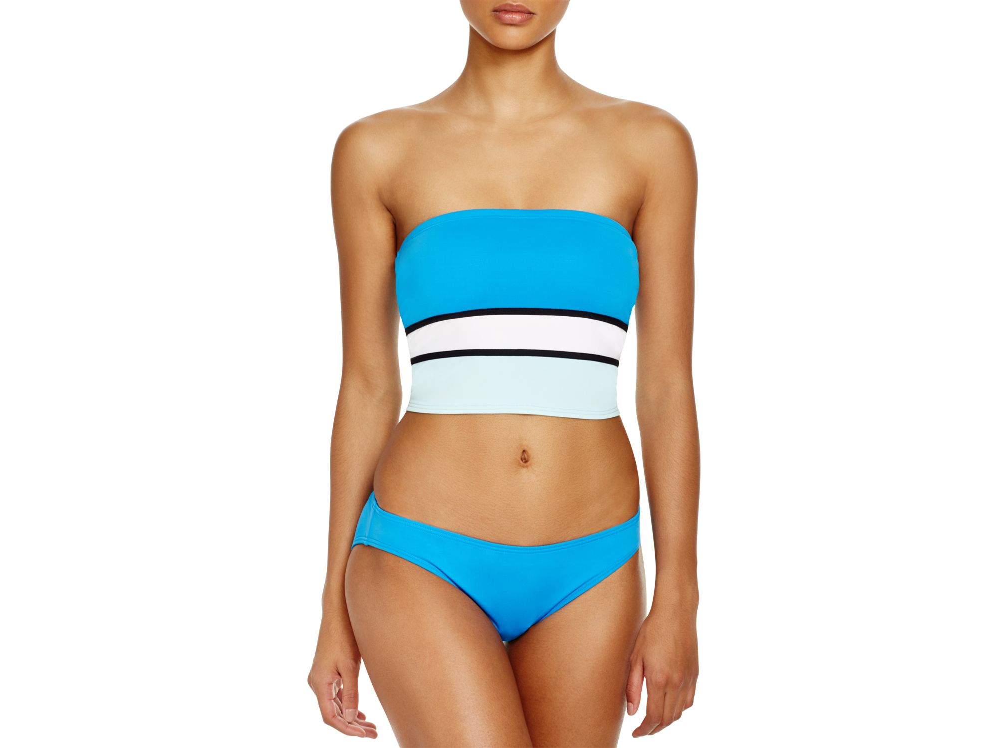 12f9e1c1b064e Lyst - Vince Camuto Bandeau Crop Bikini Top in Blue