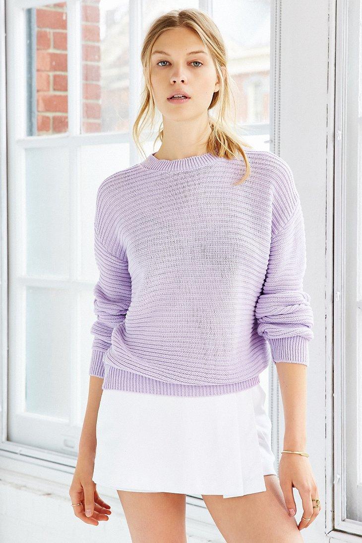 Glamorous Textured Sweater in Purple | Lyst - photo#3