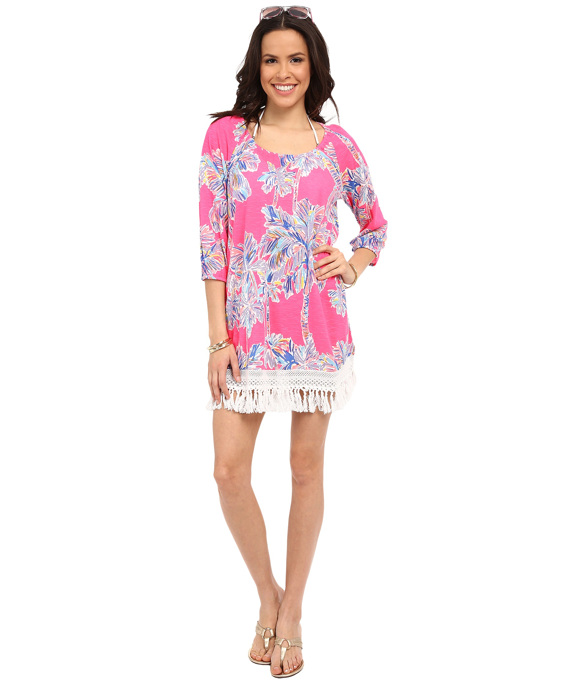 Lyst Lilly Pulitzer Alia Beach Cover Up In Pink