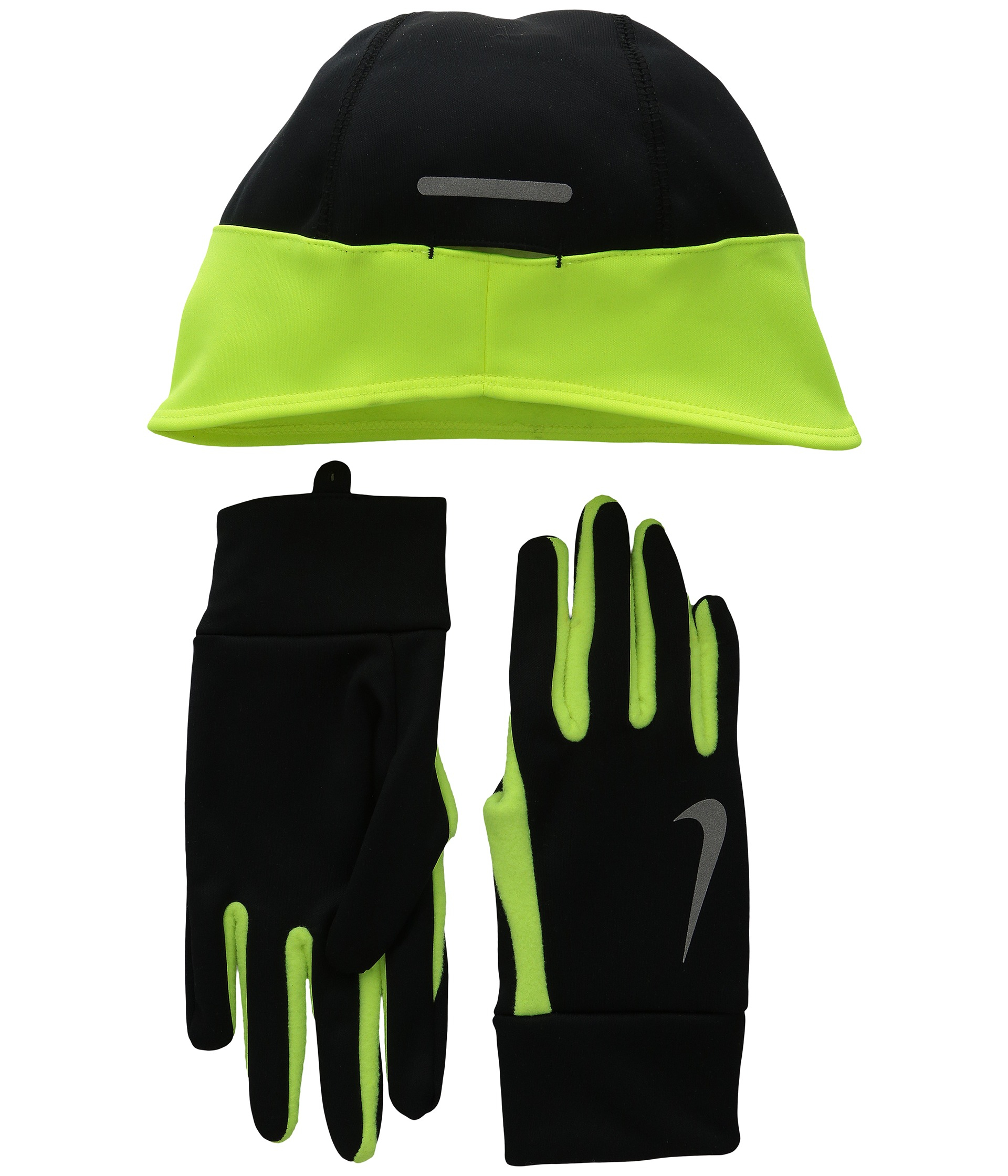 18e963f2d3e Lyst - Nike Running Thermal Beanie glove Set in Black for Men