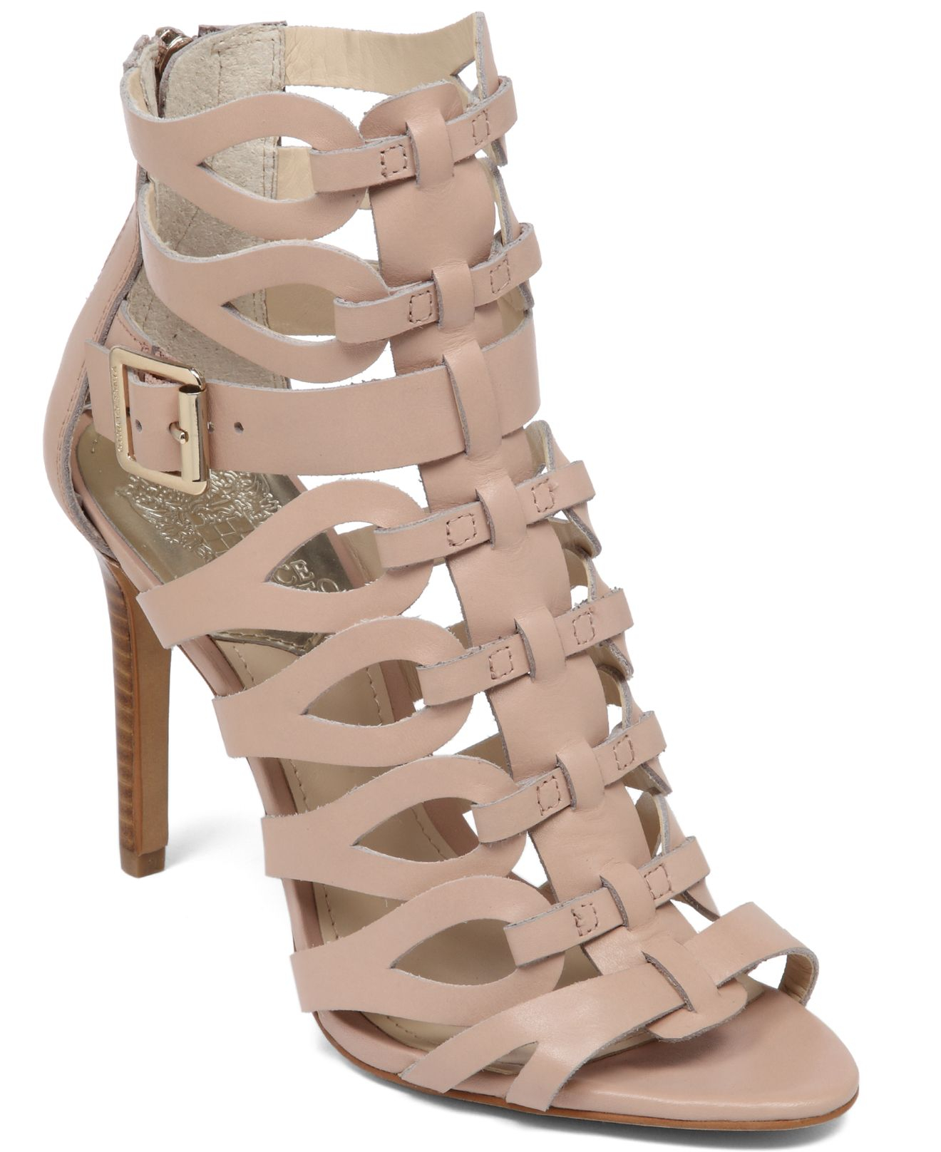 3a7838e59bf Lyst vince camuto ombre gladiator high heel sandals in natural jpg  1320x1616 Gladiator sandals vince camuto