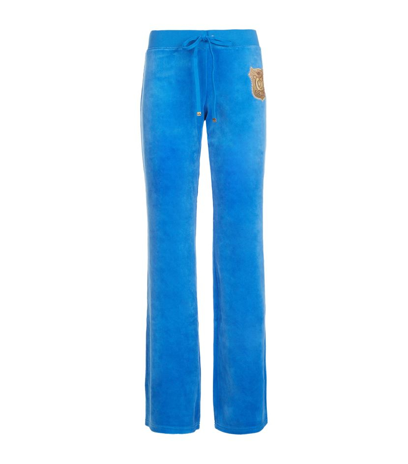 Juicy Couture Medallion Velour Tracksuit Pants in Blue | Lyst