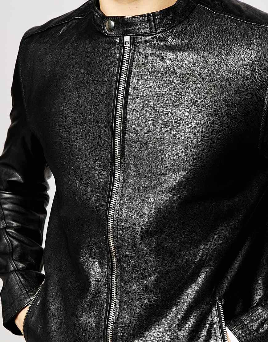 Jack and jones leather jacket