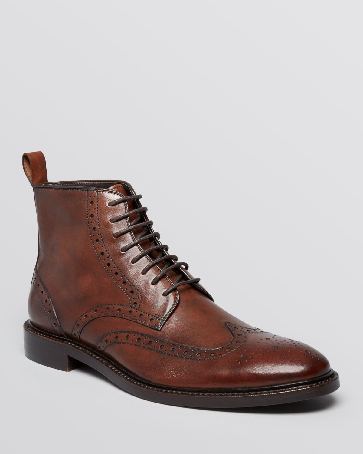 gordon stiles wingtip boots in brown for lyst