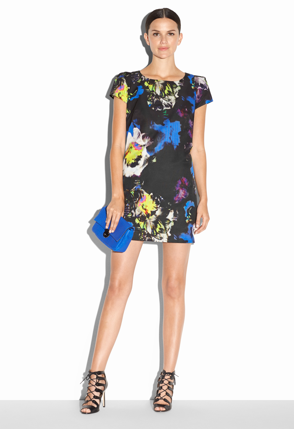 Milly Chloe Floral Print Dress Lyst