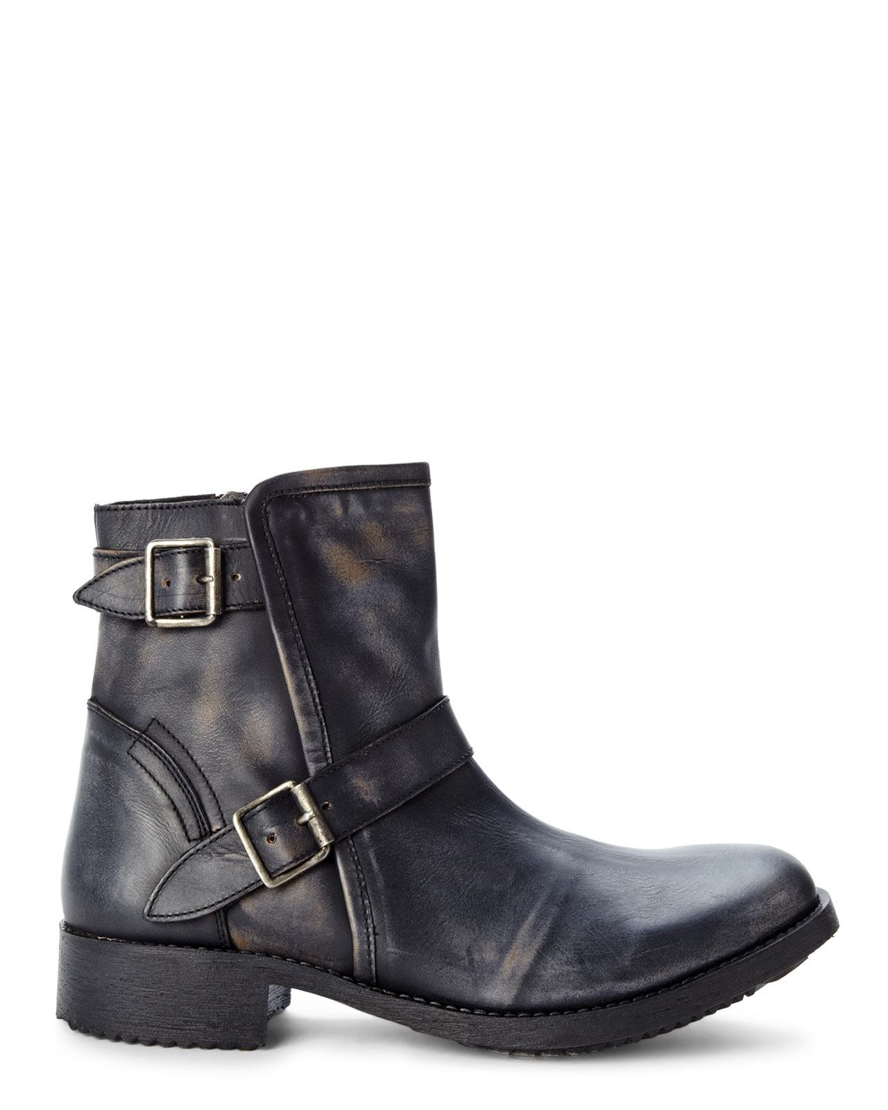 c09fd203607 Steve Madden Black Acksiz Buckle Boots for men