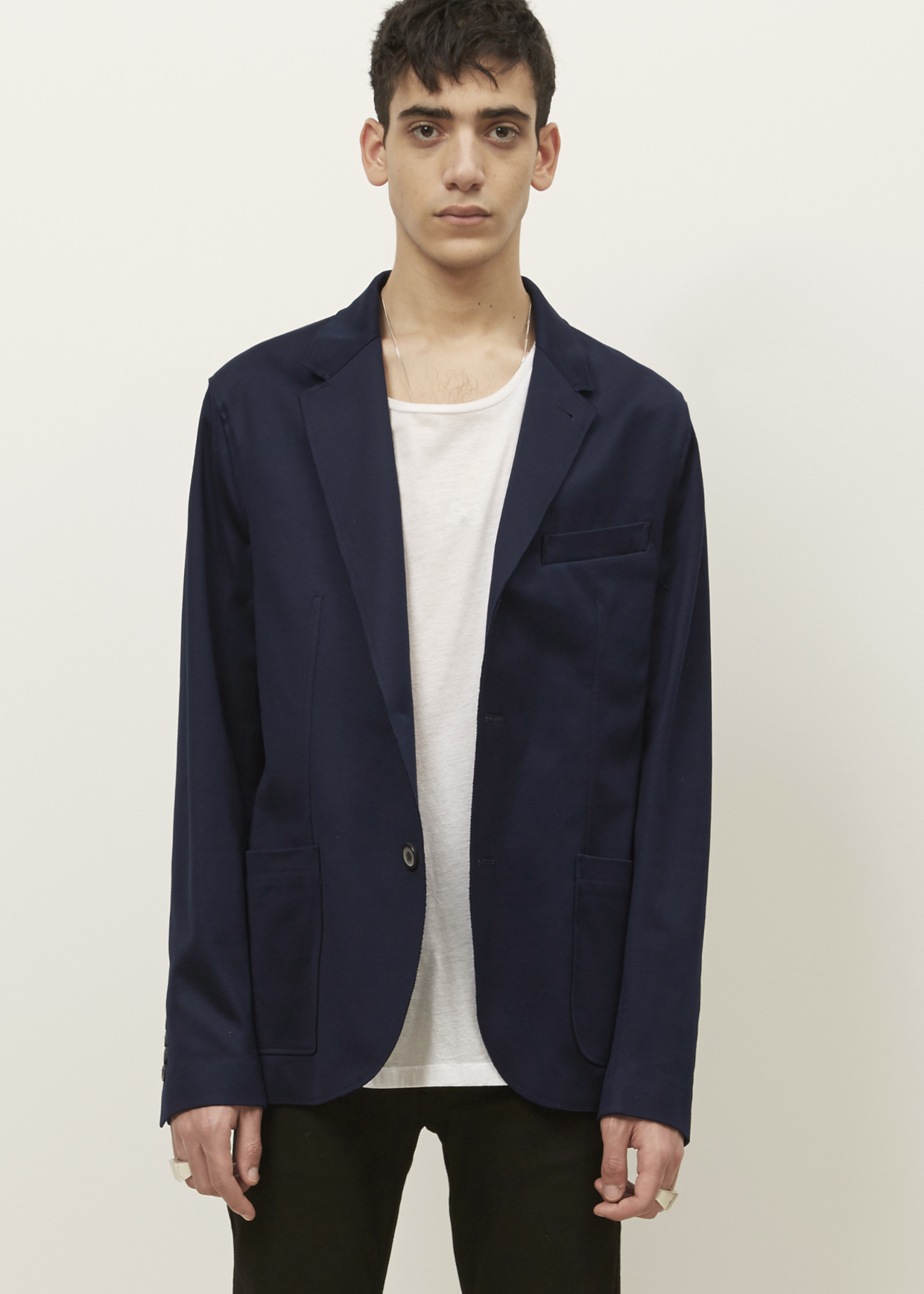 Lanvin Blue Unconstructed Jacket in Black for Men (blue ...