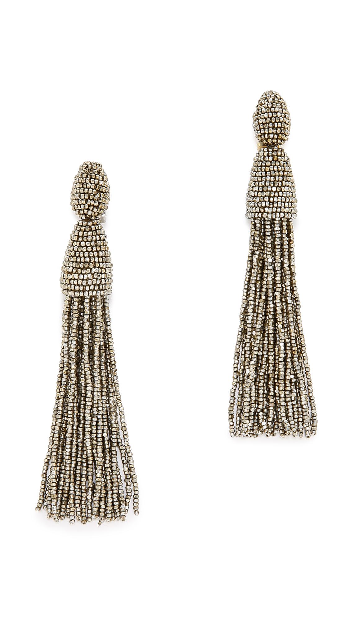 Set likewise Set furthermore Thing additionally Set likewise Oscar De La Renta Tassel Earrings Ch agne 1. on oscar de la renta accessories