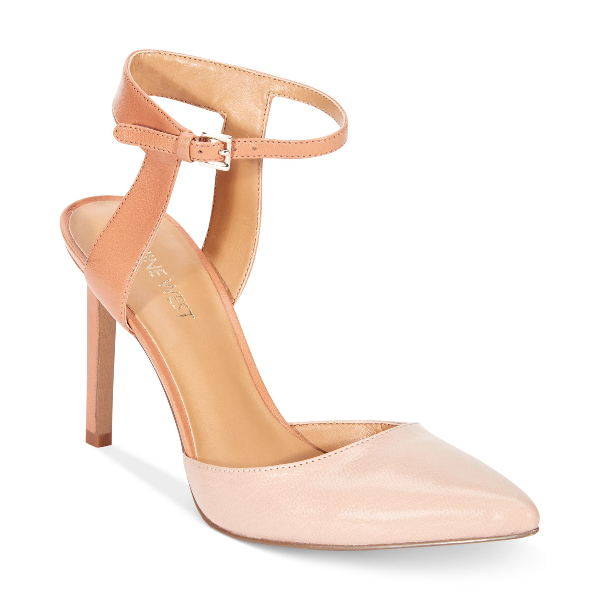 4f1ffa3472d2 Lyst - Nine West Capricious Two Piece Pumps in Pink