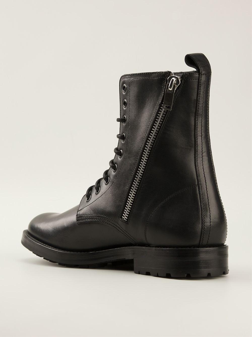Saint laurent Zip Boot in Black for Men | Lyst