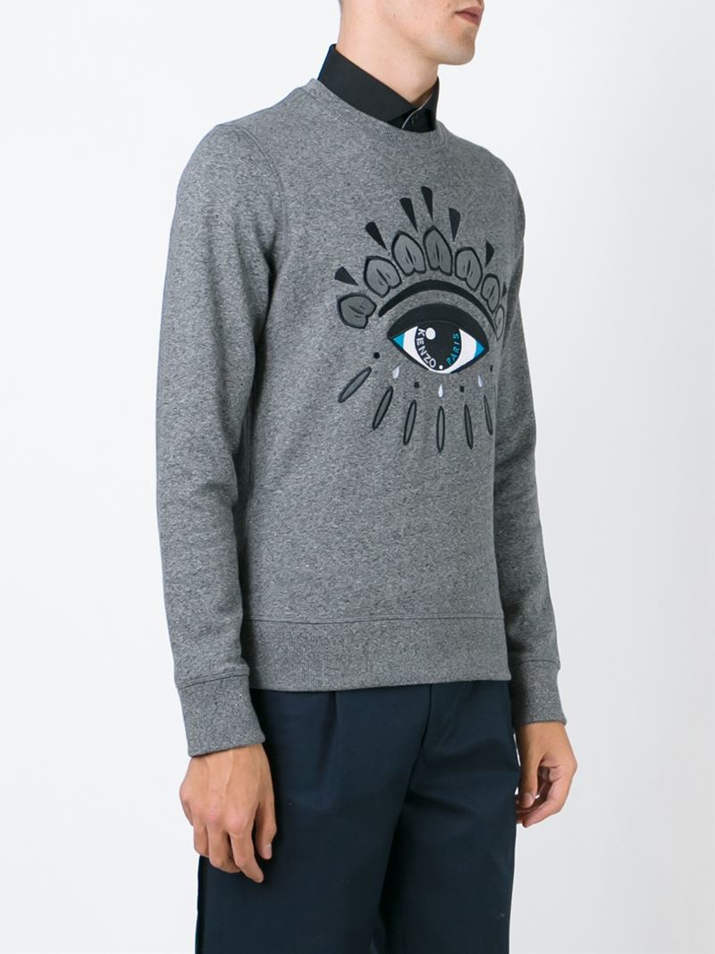 3c4504cf0 KENZO 'eye' Sweatshirt in Gray for Men - Lyst
