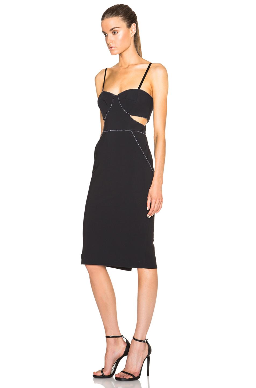 Jonathan Simkhai Cotton Cut Out Cocktail Dress In Black Lyst