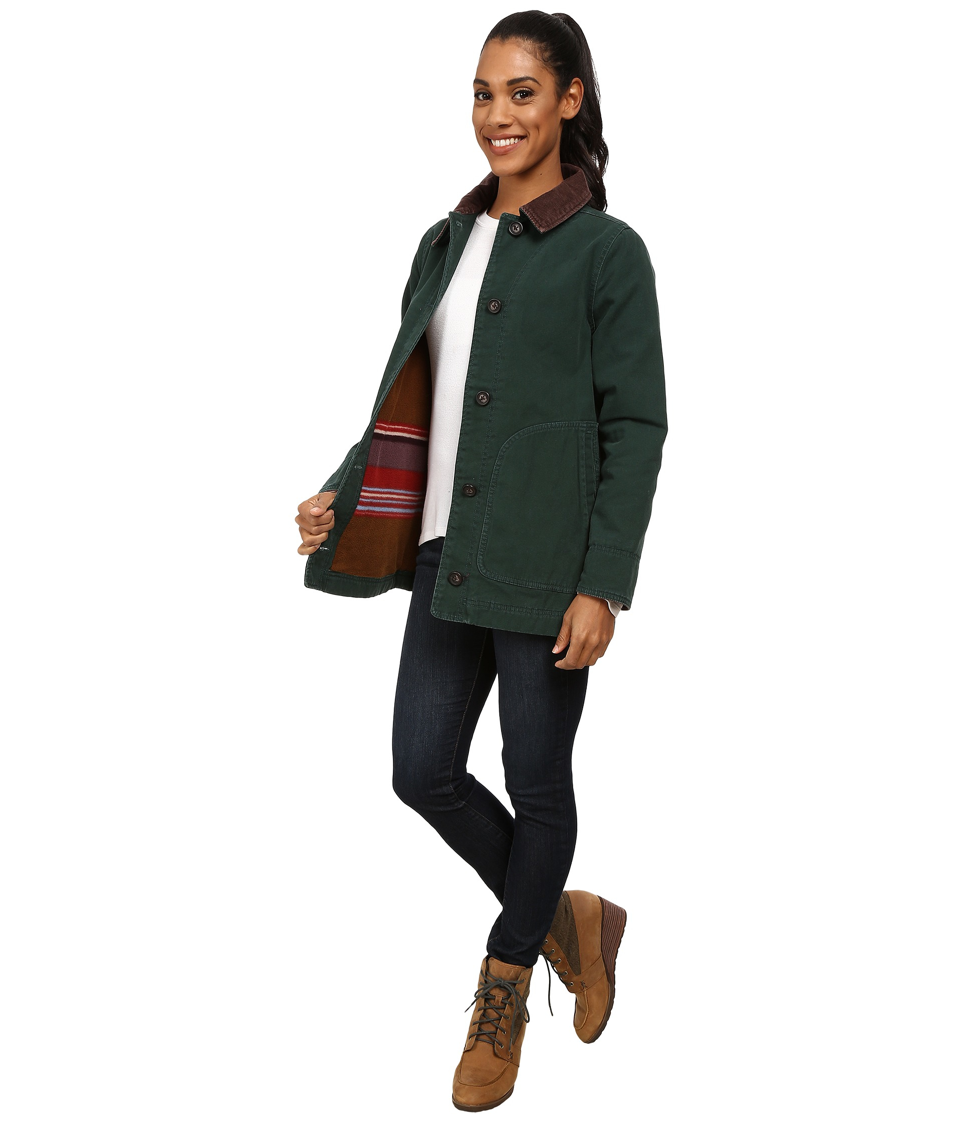 mizrahi page product barn barns quilted mixed qvc jacket live jackets leather com isaac womens lamb