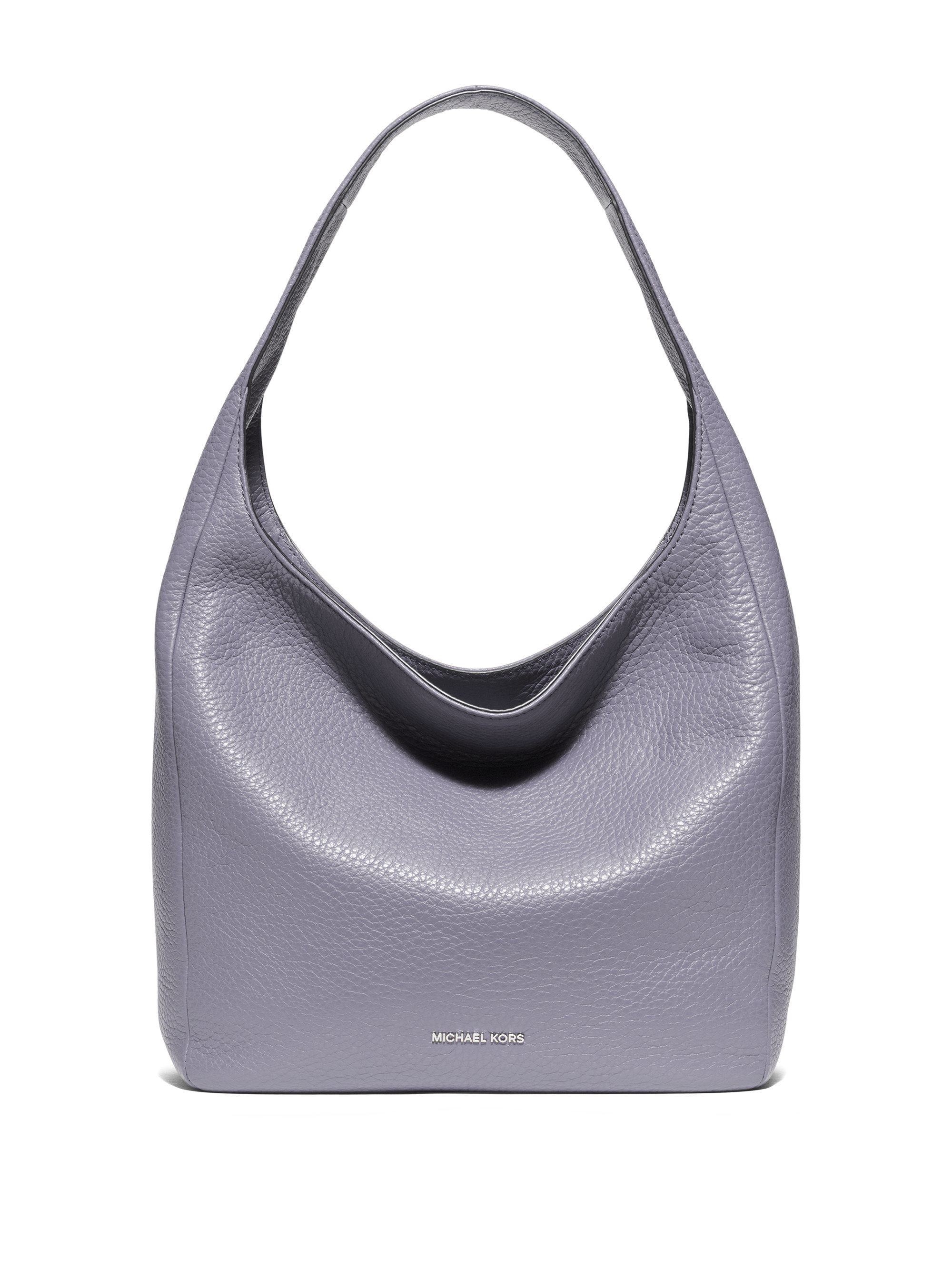 f47654cf63d6 Lyst - MICHAEL Michael Kors Lena Large Leather Hobo Bag in Metallic