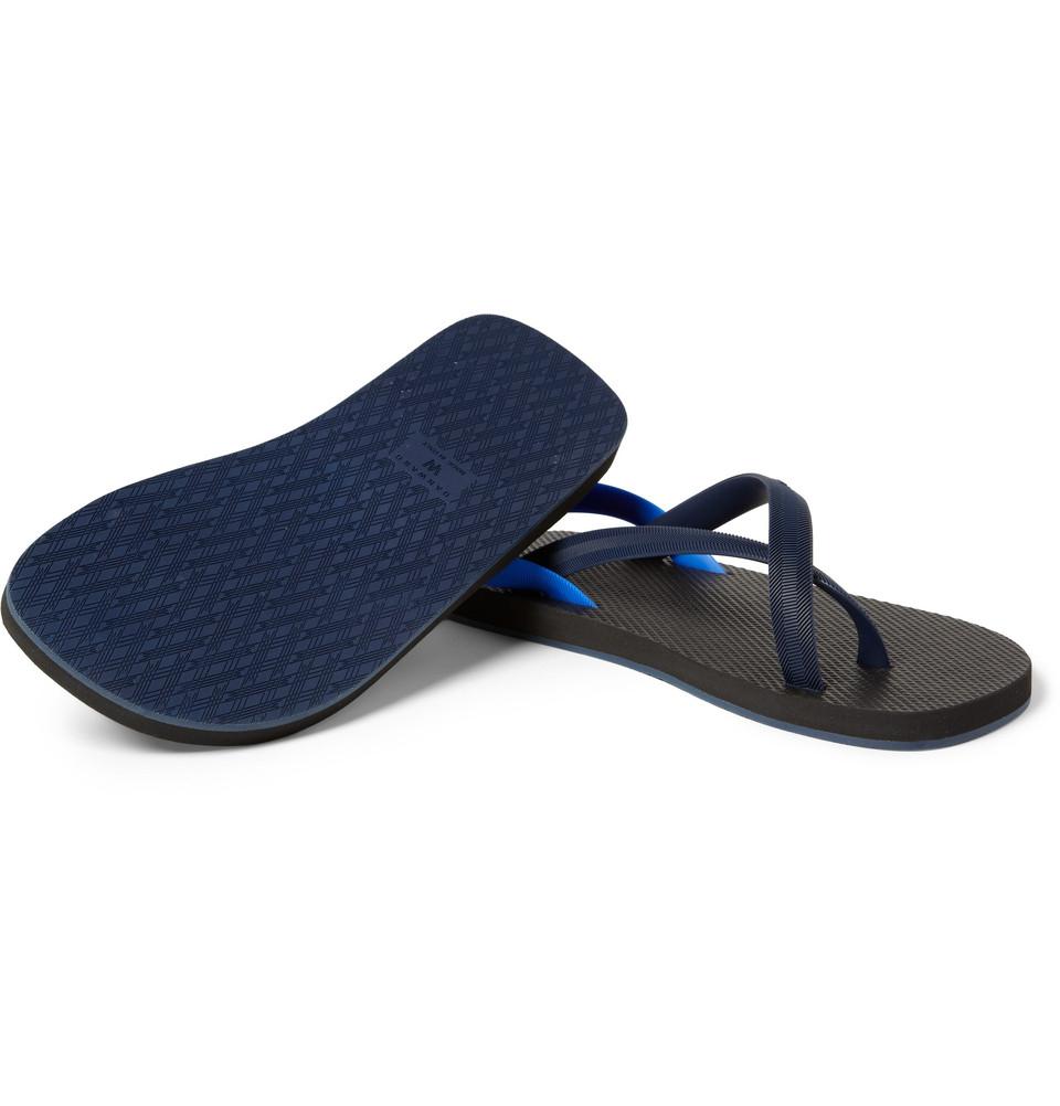Danward Rubber Sandals In Black Blue For Men Lyst
