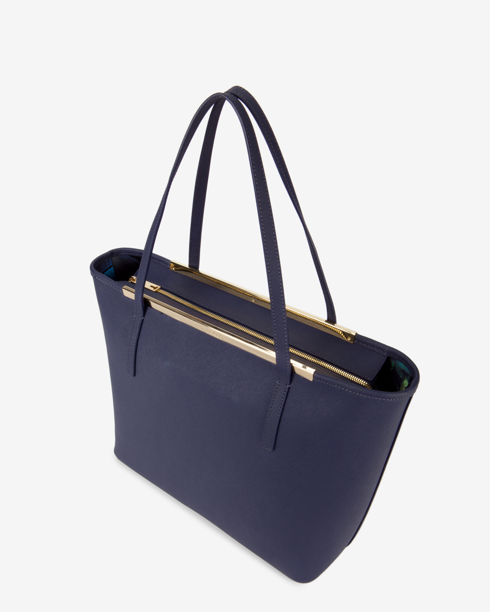 Excellent Lyst - Ted Baker Large Crosshatch Leather Shopper Bag in Blue OO04