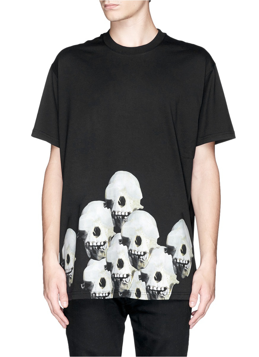 Givenchy Monky Skulls Print T Shirt In Black For Men Lyst