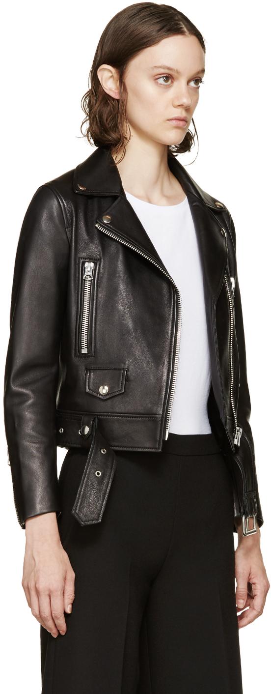 acne mock leather jacket