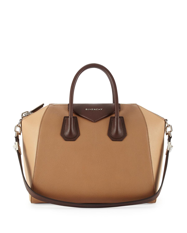 givenchy antigona medium leather satchel bag in natural lyst. Black Bedroom Furniture Sets. Home Design Ideas