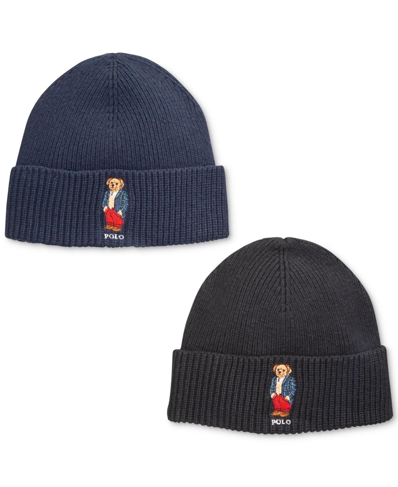 Lyst - Polo Ralph Lauren Bear Blackwatch Sportscoat Hat in Blue for Men a6772259ccee