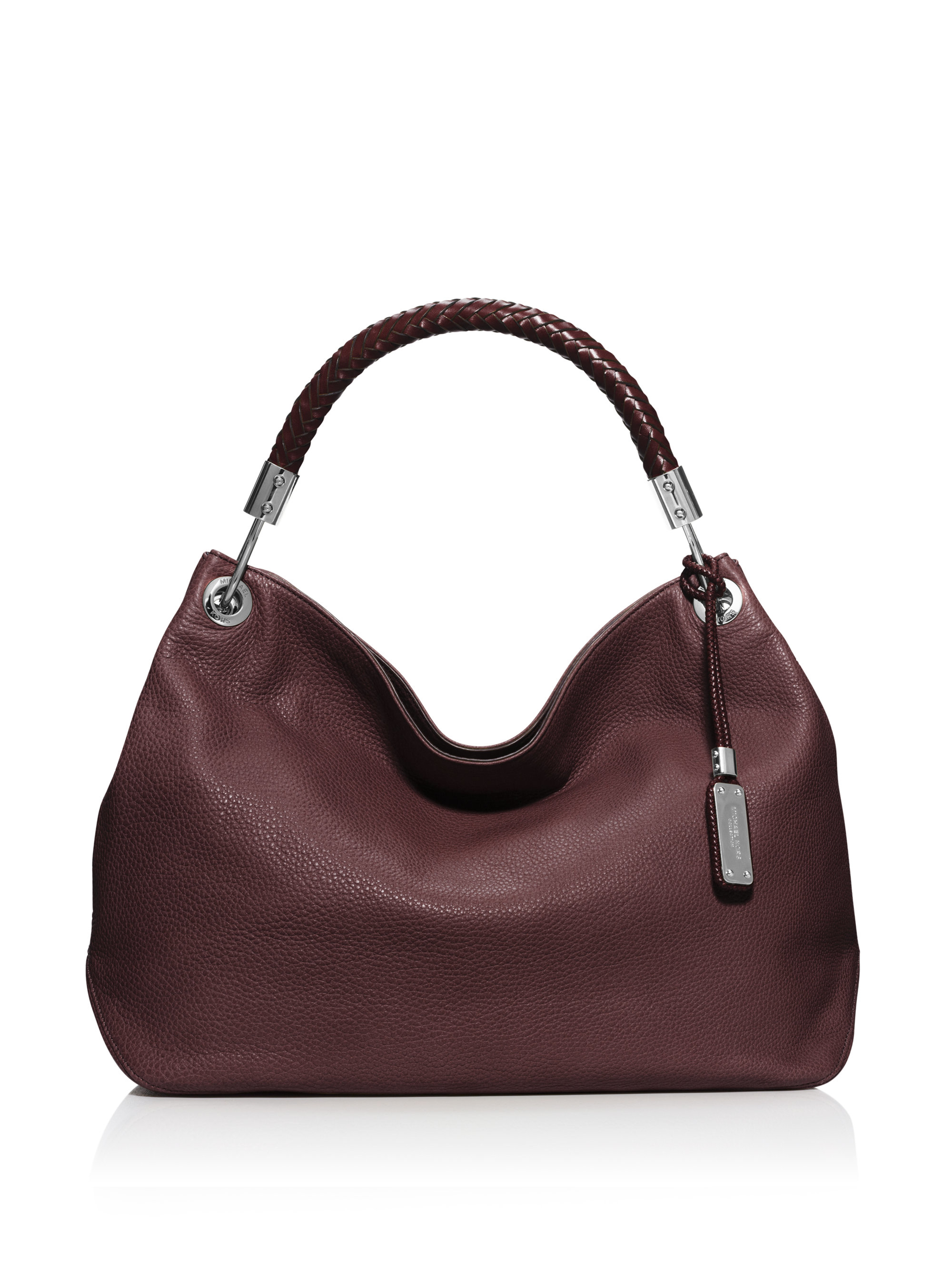 michael kors skorpios medium hobo bag in red bordeaux lyst. Black Bedroom Furniture Sets. Home Design Ideas